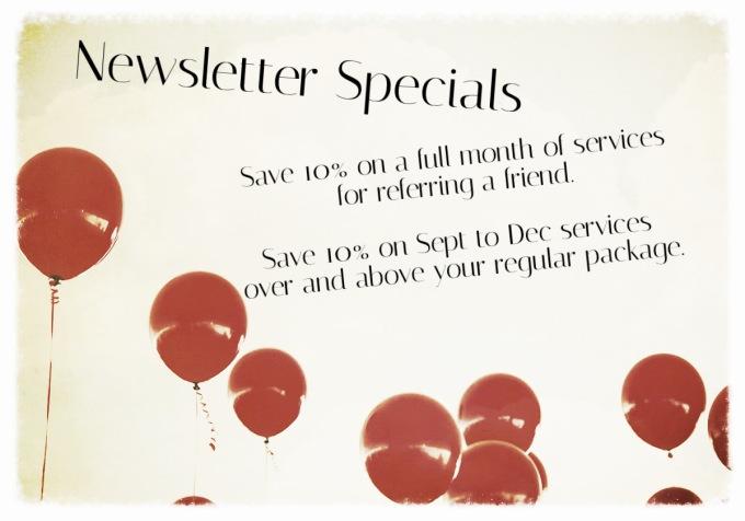 newsletter specials