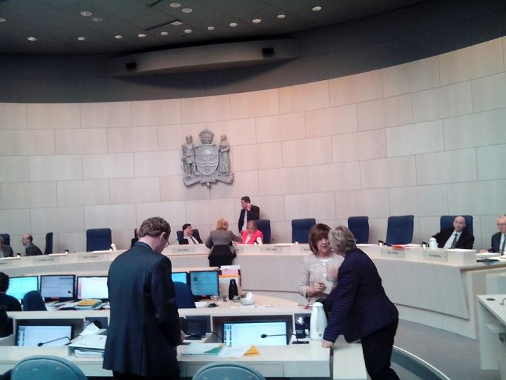 council chamber view